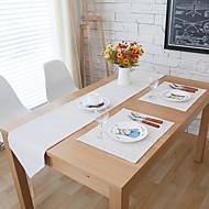 Dikdörtgen Desenli Masa Runner'ları , Linen Malzeme Otel Yemek Masası / Tablo Dceoration