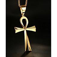 Ανδρικά Γυναικεία Για Ζευγάρια Κρεμαστά Κολιέ Κοσμήματα Cross Shape Ανοξείδωτο Ατσάλι Κρεμαστό κοστούμι κοστουμιών Κοσμήματα Για
