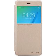 용 윈도우 / 자동 슬립/웨이크 기능 / 플립 / 반투명 케이스 풀 바디 케이스 단색 하드 인조 가죽 용 Huawei Huawei Honor 8 / Huawei Honor V8