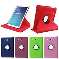 pu leer 360 graden gevallen draaien met standaard voor de Galaxy Tab 9.7 s2 / s2 8.0 / a 9.7 / een 8,0 / e 9.6 (assorti kleur)
