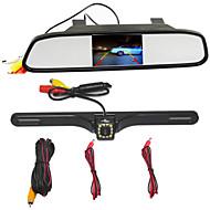 visszapillantó tükör 4,3 TFT LCD parkoló visszapillantó tükör monitor 12 led ccd hd tolatókamera VW audi ford toyota nissan mazda hyundai