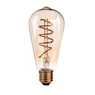 4W E26/E27 B22 LED Λάμπες Πυράκτωσης ST64 1 COB 400 lm Θερμό Λευκό Με Ροοστάτη AC 110-130 AC 220-240 V 1 τμχ