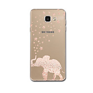 Voor Hoesje cover Ultradun Patroon Achterkantje hoesje Olifant Zacht TPU voor Samsung A3 (2017) A5 (2017) A7 (2017) A7(2016) A5(2016) A8