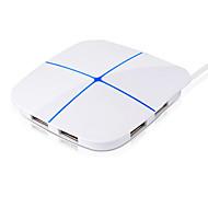 6 port USB hub nagy sebességű bővítése TF / SD kártya színes fény maximális támogatást 2t merevlemez