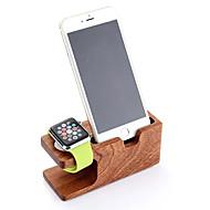 Pasiso horloge stand voor appelwatch serie 1 2 iphone 6plus 6 5 5s 5c 4s 4 all-in-1 houten 38mm / 42mm kabel niet inbegrepen