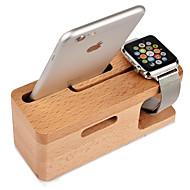 Teqi horloge stand voor appelwatch serie 2 iphone7 7lus 6s 6 lus 5 5c 5s 4 4s houten 38mm / 42mm geen data lijn