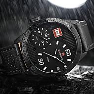 NAVIFORCE Herre Sportsklokke Militærklokke Moteklokke Armbåndsur Unike kreative Watch Hverdagsklokke Japansk QuartzKalender Dobbel