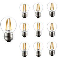 10pcs ρυθμιζόμενο g45 4w οδήγησε λάμπα πυρακτώσεως e27 κούμπωμα ταιριάζει φως σχοινιών επιτραπέζιο φως ac220-240v