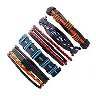 Heren Lederen armbanden PERSGepersonaliseerd Multi-ways Wear Leder Lijnvorm Twist Cirkel Sieraden Voor Toneel Straat