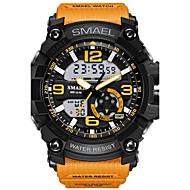 Męskie Sportowy Modny Zegarek cyfrowy Zegarek na nadgarstek Cyfrowe LED Wodoszczelny Dwie strefy czasowe alarm Świecący Guma Pasmo