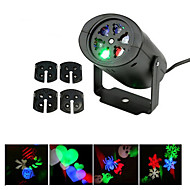 ywxlight® 3w eu us plug no-waterproof snefnug jul projektor lys til hjem haven landskab belysning mønster led projektion lys 1pcs