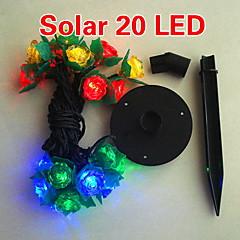 napenergia 2m 20 led színes fény virág tervezés karakterlánc lámpa karácsony