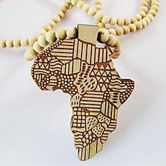 Heren Hangertjes ketting Kaart Hout Afrika Kostuum juwelen Sieraden Voor Dagelijks Causaal Kerstcadeaus
