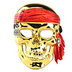 할로윈 의상 파티 전기 도금 해적 해골 얼굴 마스크