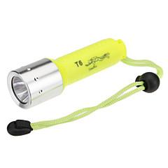 LED zseblámpák Búvárlámpa Kézi elemlámpák LED 1000 Lumen 1 Mód Cree XM-L T6 Az akkumulátorok nem tartozékok Újratölthető Vízálló mert