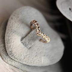 Női Karikagyűrűk Szerelem jelmez ékszerek luxus ékszer Kristály Hamis gyémánt Ötvözet Heart Shape Ékszerek Kompatibilitás Napi