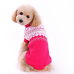 개 스웨터 로즈 강아지 의류 겨울 모든계절/가을 리본매듭 귀여운 패션