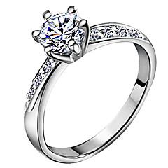 Női Karikagyűrűk Szerelem Menyasszonyi Klasszikus jelmez ékszerek Cirkonium Ezüstözött Hatágú Ékszerek Kompatibilitás Esküvő Napi