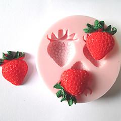 kolme reikää mansikka hedelmä silikonimuottia konvehti muotit sokeria askarteluun suklaa muottiin kakkuja