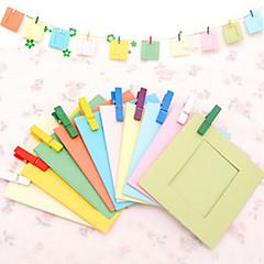 Színes DIY 3-os 10 Pack Tájkép Pattern Hanging papír képkeret
