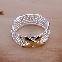 Női Karikagyűrűk Vallomás gyűrűk Európai jelmez ékszerek Ezüstözött Circle Shape Geometric Shape Ékszerek Kompatibilitás Parti Napi