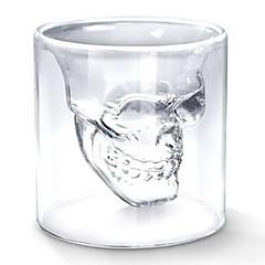 fajne przejrzyste kreatywny projekt straszny czaszki głowy strzał nowość Szklanka wina szklane 75ml