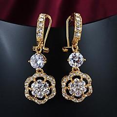 Brincos Compridos bijuterias Chapeado Dourado 18K ouro Jóias Para Casamento Festa
