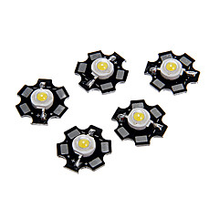 1W Alta Potência Natural White Color módulo de LED com alumínio PCB (3.0-3.4V, 5pcs)