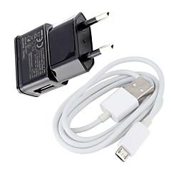 Otthon töltő / hordozható töltő EU csatlakozó 1 USB port Kábel Mert Mobil(5V , 1A)