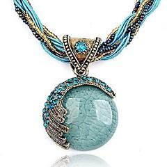 Kadın's Uçlu Kolyeler Bileklik Round Shape Kristal Yapay Elmas Moda Avrupa Bohemia Stili Kişiselleştirilmiş kostüm takısı Mücevher