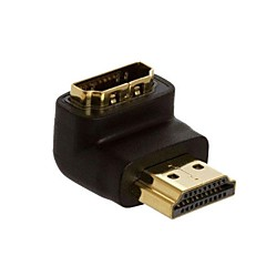 LWM ™ HDMI-stik forgyldt mandlige og kvindelige kobling 90 grader ret vinklet