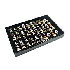 Pudełka na biżuterię Akrylowy Flanela Papierowy Geometric Shape Czarny Biały