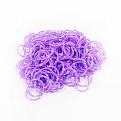 purpurowe pasy wiązka losowy kolor gumki (200szt zespoły, hak 12szt s, 1szt szydełko)