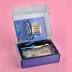 szivárvány színes szövőszék stílusú DIY fonott szett (gumikötél 600 db, s csat 12 db, horgolt, szövés eszközök)