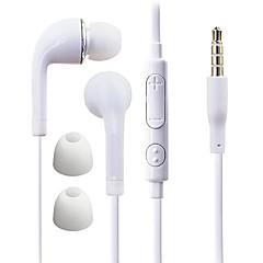 df biały niebieski talerz 3.5mm douszne słuchawki w linii z kontrolą do Samsung S4 / S5 wszystkie telefony Andriod