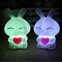 코웨이 사랑 마일 토끼 다채로운 LED 야간 조명 램프