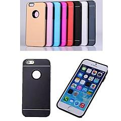 Mert iPhone 6 tok / iPhone 6 Plus tok Galvanizálás Case Hátlap Case Egyszínű Kemény Alumínium iPhone 6s Plus/6 Plus / iPhone 6s/6