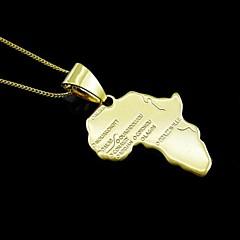 18K 진짜 금은 아프리카의지도 2.9 * 4.9cm 펜던트 도금