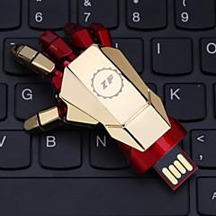 ZP 32gb metal στυλ κίνησης μανδρών usb flash μοτίβο χέρι