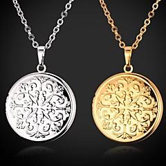Női Rövid nyakláncok Nyaklánc medálok Sockets nyakláncok Veterán nyakláncok Függők Circle Shape Geometric Shape Réz Arannyal bevont Divat