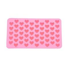 55-υποδοχή bakeware δίσκο μούχλα μπισκότο τούρτα σε σχήμα καρδιάς σιλικόνης ψήσιμο μούχλα (ροζ)