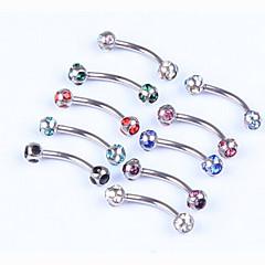 Mujer Joyería para el párpado / Labret, Lip Piercing Jewelry Cristal / Acero inoxidable Joyas,1pc