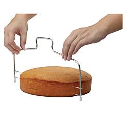Mode-Doppellinie einstellbar Edelstahl Metallkuchen geschnitten Tools Kuchen Slicer Gerät Form bakeware Küche kochen