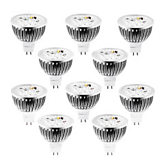 4w gu5.3 (mr16) led spotlight mr16 320 lm varm / cool / naturlig hvid dæmpbar dc / ac 12 v 10 stk