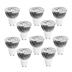 GU10 Lâmpadas de Foco de LED 4 LED de Alta Potência 400-450 lm Branco Quente Branco Frio Branco Natural Regulável AC 220-240 V 10 pçs