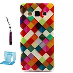 Mert Samsung Galaxy tok Minta Case Hátlap Case Mértani formák TPU Samsung A3