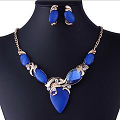 Zestawy biżuterii luksusowa biżuteria biżuteria kostiumowa Kamień szlachetny Imitacja diamentu Náušnice Naszyjnik Na Impreza Prezenty