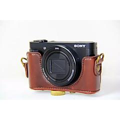 소니 DSC-hx90v hx90 wx500 (모듬 색상)에 대한 어깨 끈과 dengpin® PU 가죽 카메라 케이스 가방 커버