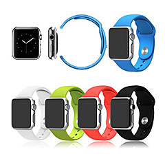 Faixa de relógio de esporte para relógio de maçã 38mm pulseira de silicone de 42mm com conector