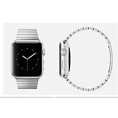 Faixa de relógio para relógio de maçã pulseira de aço inoxidável de 38 mm 42 mm com conector fivela de borboleta